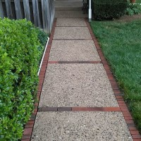 brick path after