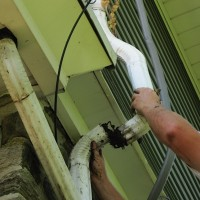 8 clogged gutters and downspouts