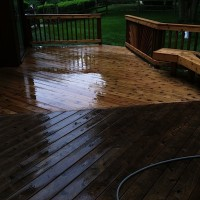 Cedar deck cleaning
