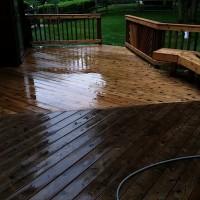 Cedar Deck Cleaning