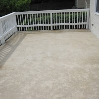 Concrete coating before