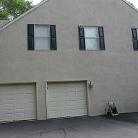 stucco WP garage side