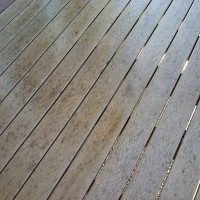 Trex composite deck cleaning before 19444